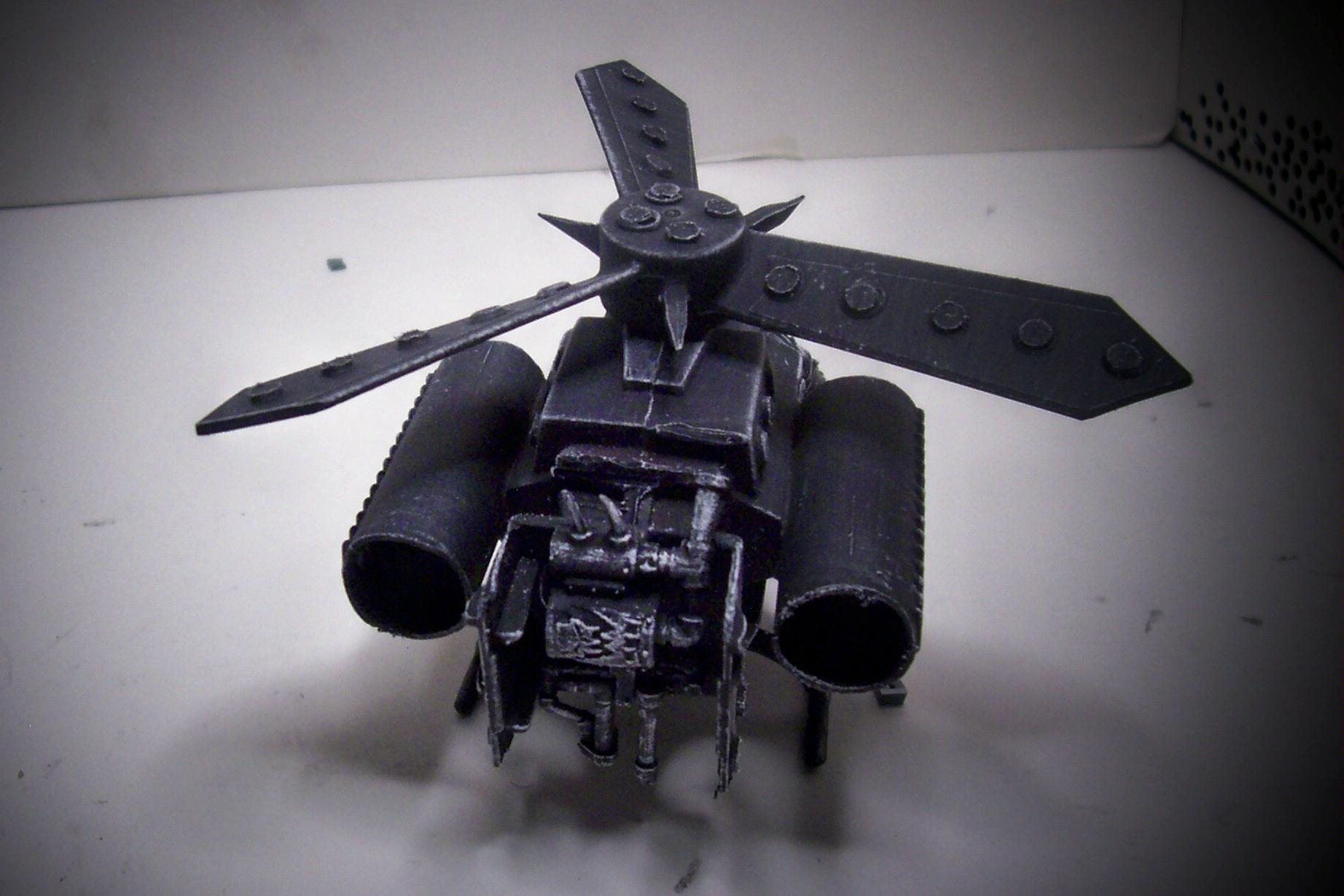 Conversion, Deffkopta, Drybrush, Orks, Toy, Warhammer 40,000