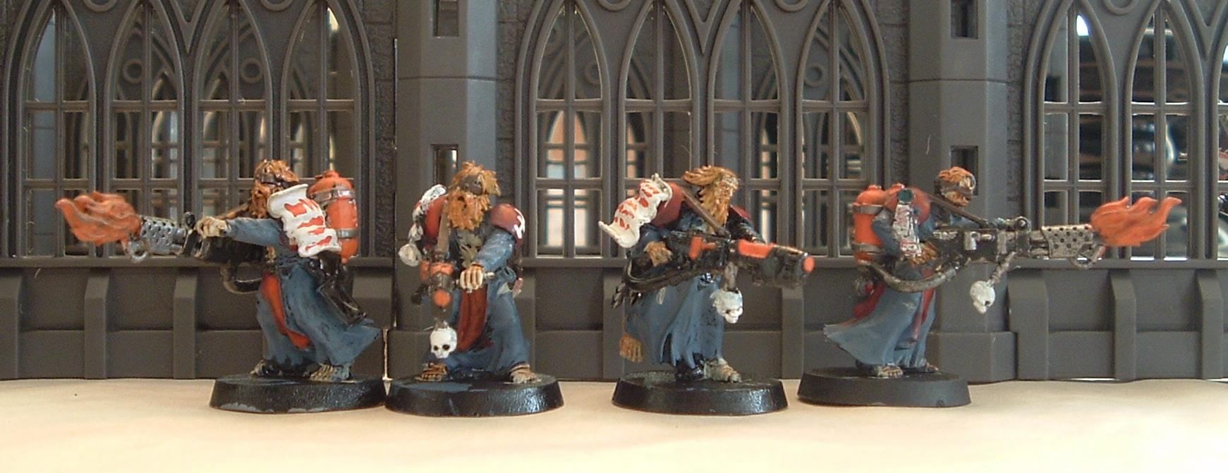 Flagellents, Flamer, Inquisition, Warhammer 40,000, Zealots