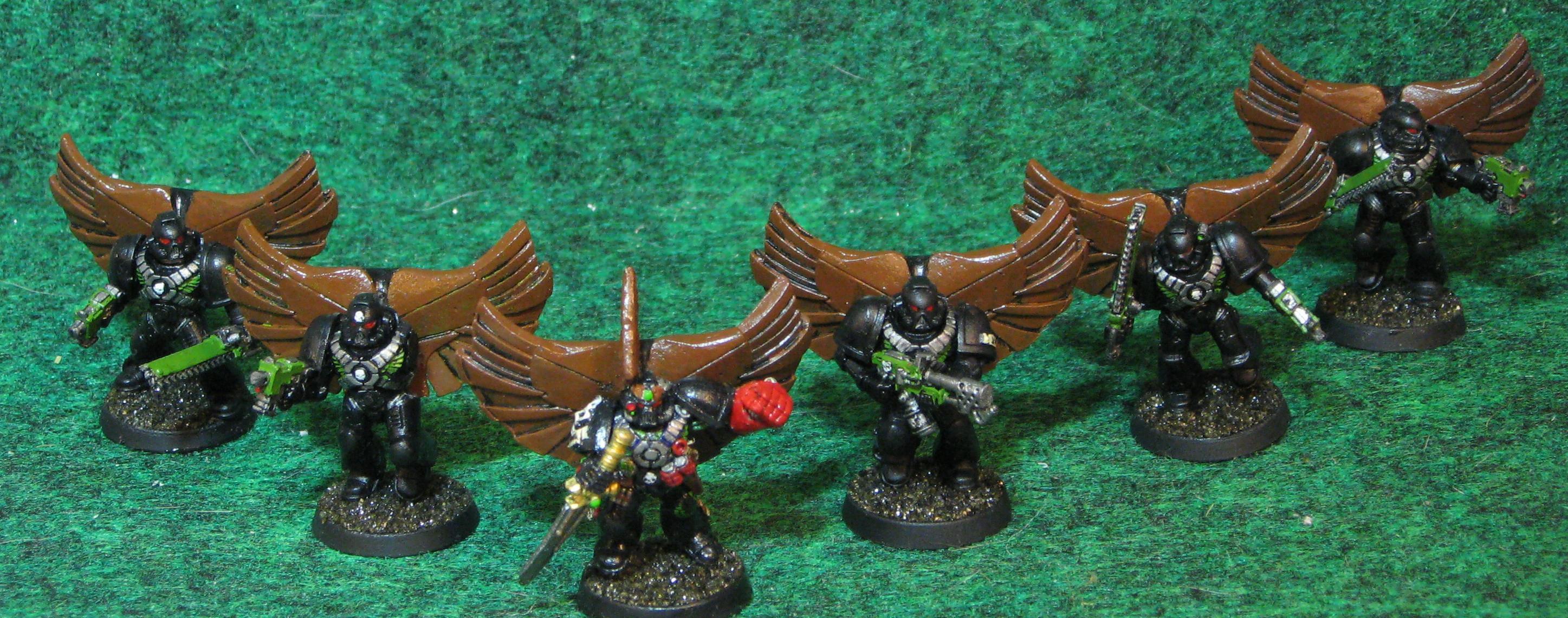 Assault Marines, Conversion, Space Marines, Warhammer 40,000, Winged