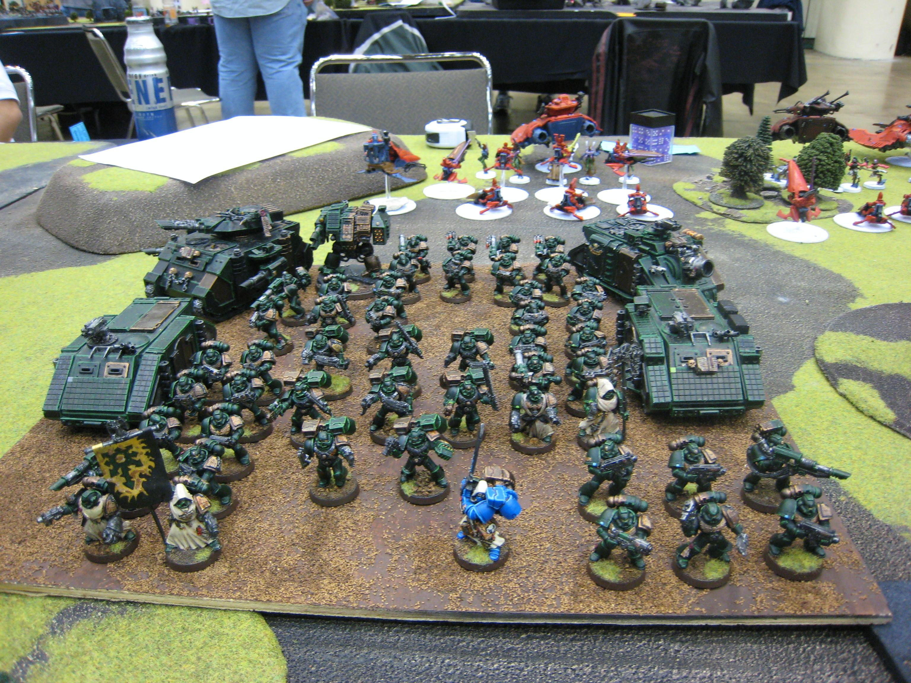 Army, Fallen Angel, Grand Tournament, Icon Bearer, Librarian, Space Marines, Warhammer 40,000