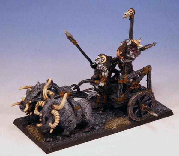 Beastmen, Chaos, Chariot, Warhammer Fantasy