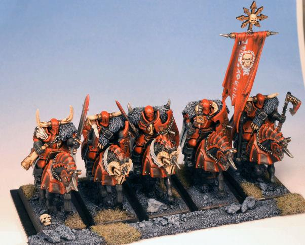Cavalry, Chaos, Khorne, Knights, Warhammer Fantasy, Warriors, Warriors Of Chaos