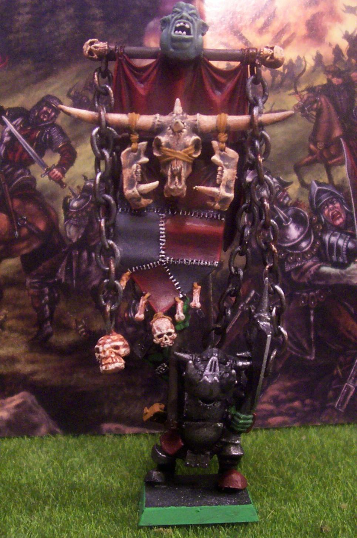 Black Orc, Orcs, Standard Bearer, Warhammer Fantasy