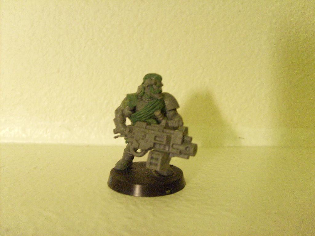 Conversion, Greenstuff, Heavy Bolter, Imperial Guard