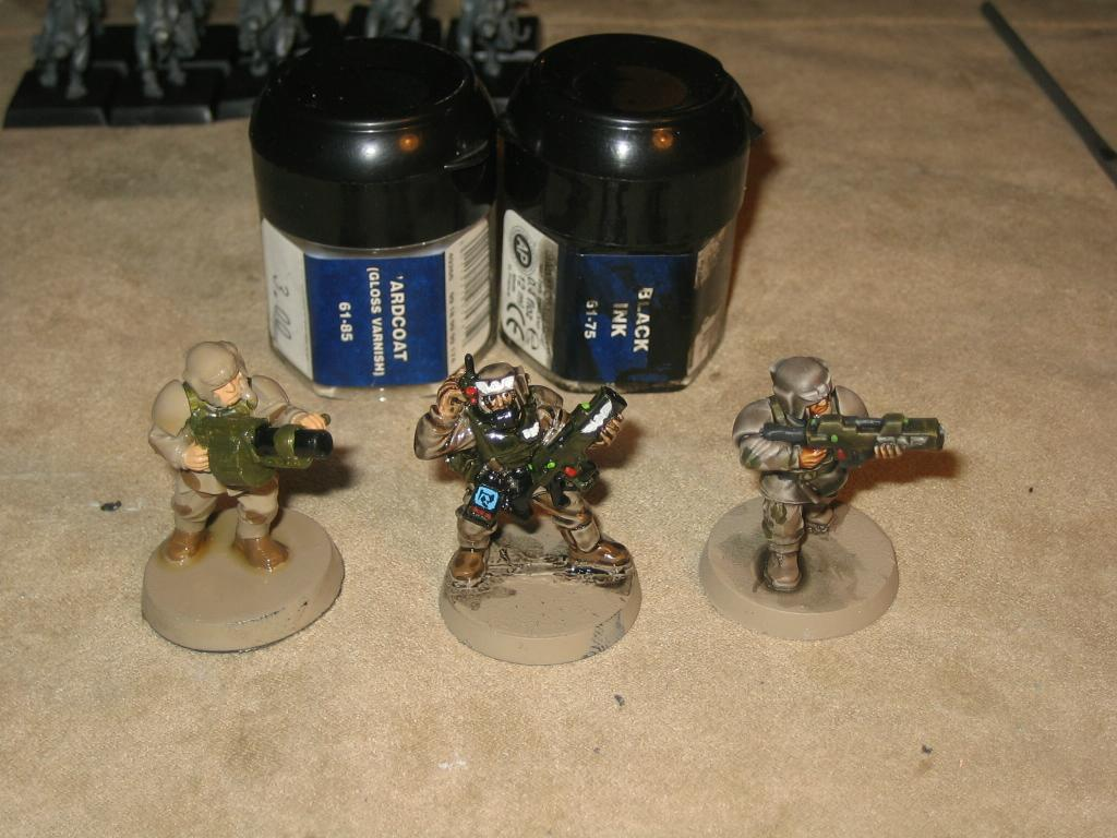 Cadians, Comparison, Dipped, Imperial Guard, Warhammer 40,000