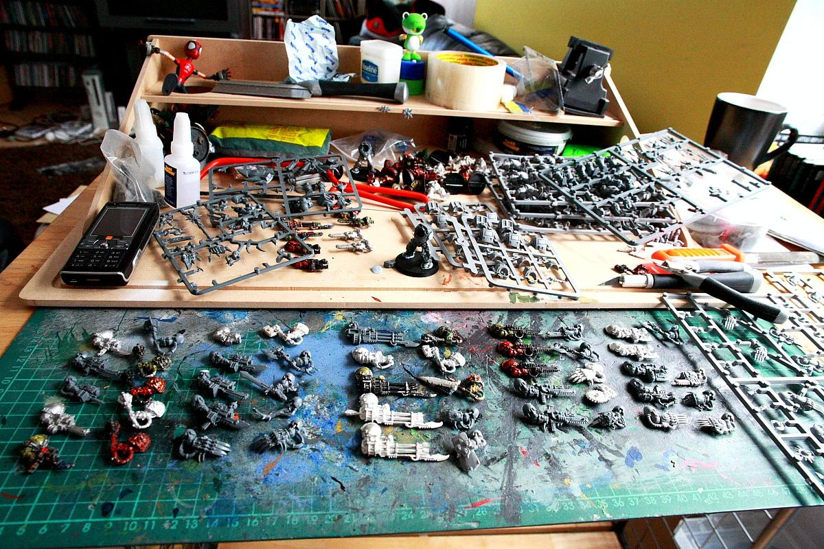 Chaos Space Marines, Forge World, Greenstuff, Hobby Area, Magnet, Nurgle, Terminator Armor, Warhammer 40,000, Work In Progress