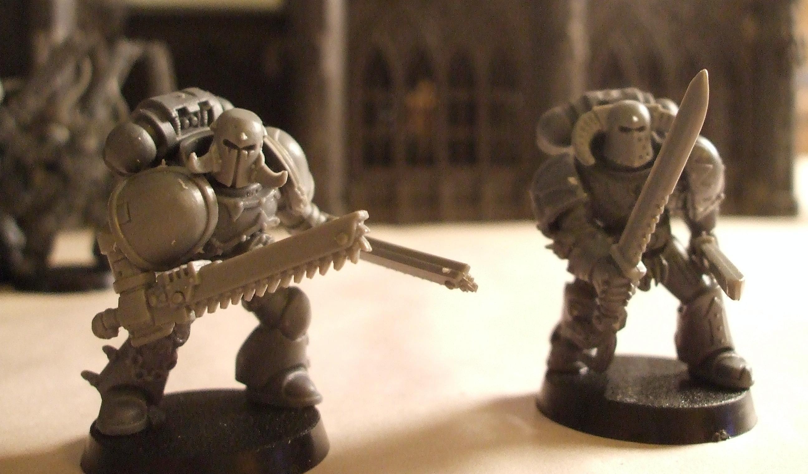 Berserkers, Chaos, Chaos Space Marines, Conversion, Warhammer 40,000, Work In Progress
