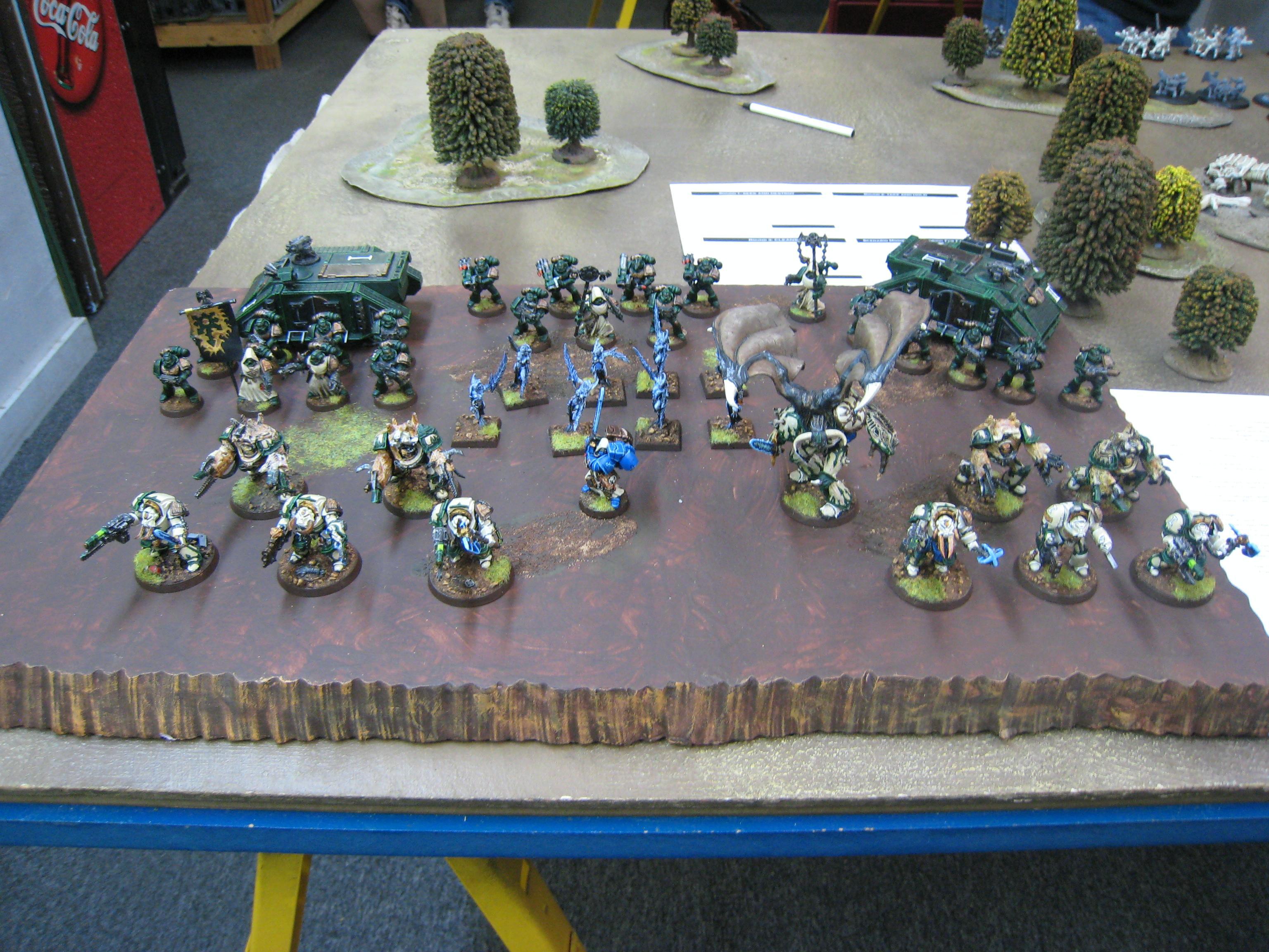 Army, Chaos, Fallen Angel, Lesser Daemons, Terminator Armor, Warhammer 40,000