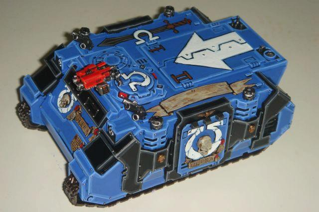 Rhino, Space Marines, Ultramarine Rhino, Ultramarines