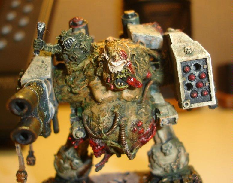 Chaos, Chaos Space Marines, Conversion, Death Guard, Dreadnought, Nurgle, Warhammer 40,000