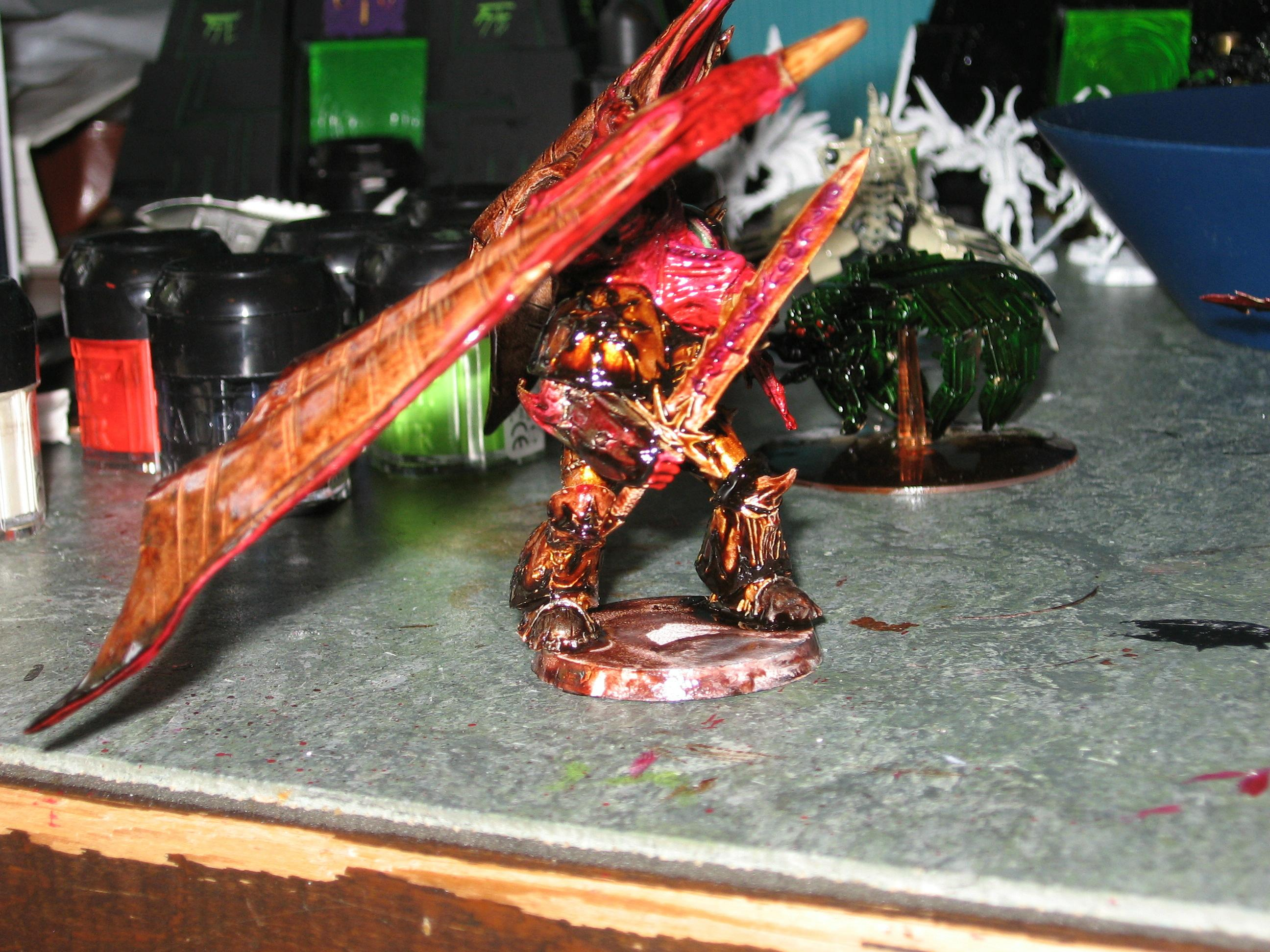 Chaos, Chaos Space Marines, Daemon Prince, Ink, Warhammer 40,000, Winged