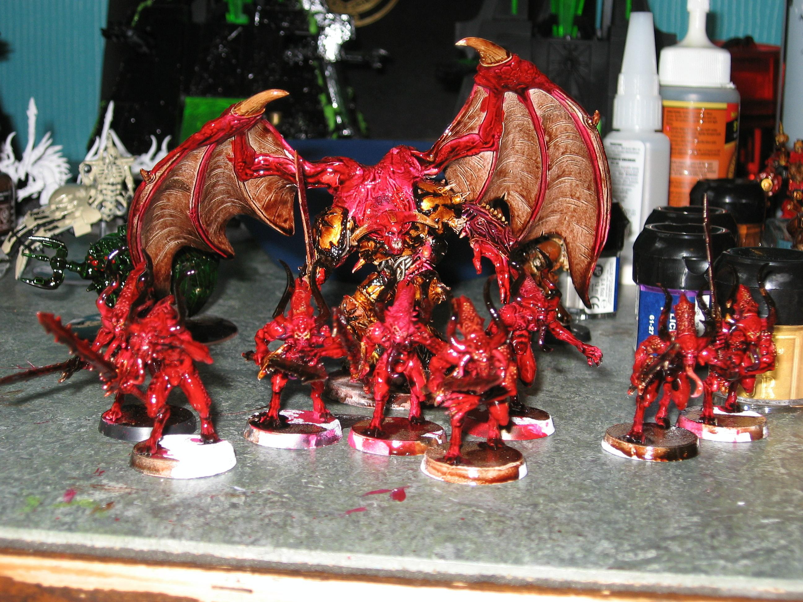 Bloodletters, Chaos, Chaos Space Marines, Daemon Prince, Ink, Khorne, Warhammer 40,000, Winged