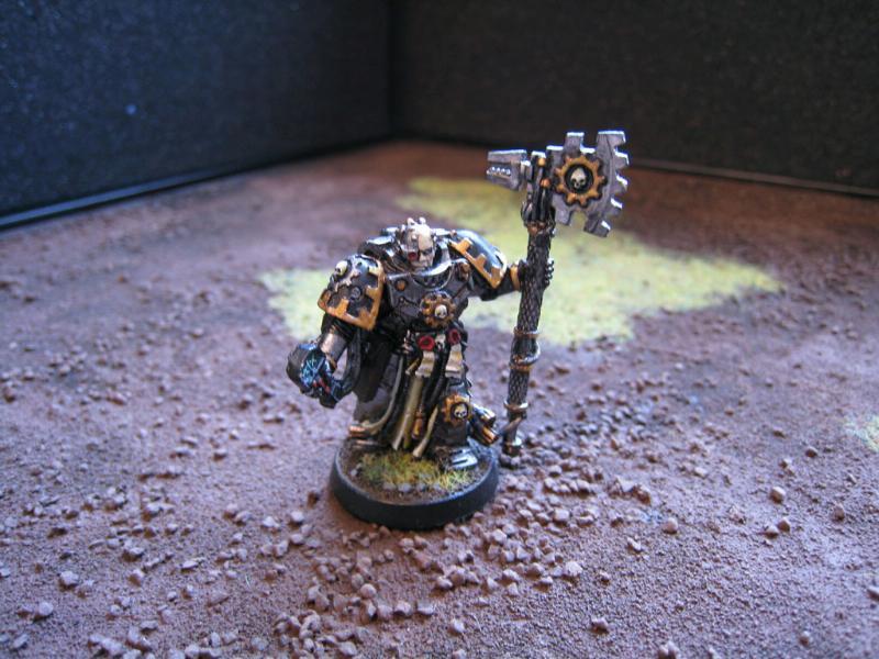 Chaos Lord, Chaos Space Marines, Iron Warriors, Warhammer 40,000, Warsmith, Work In Progress