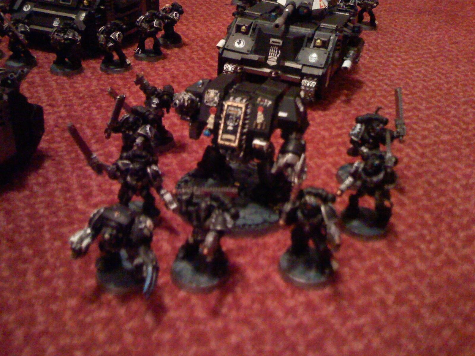 Dreadnought, Iron Hands, Space Marines, Tactical Squad, Warhammer 40,000