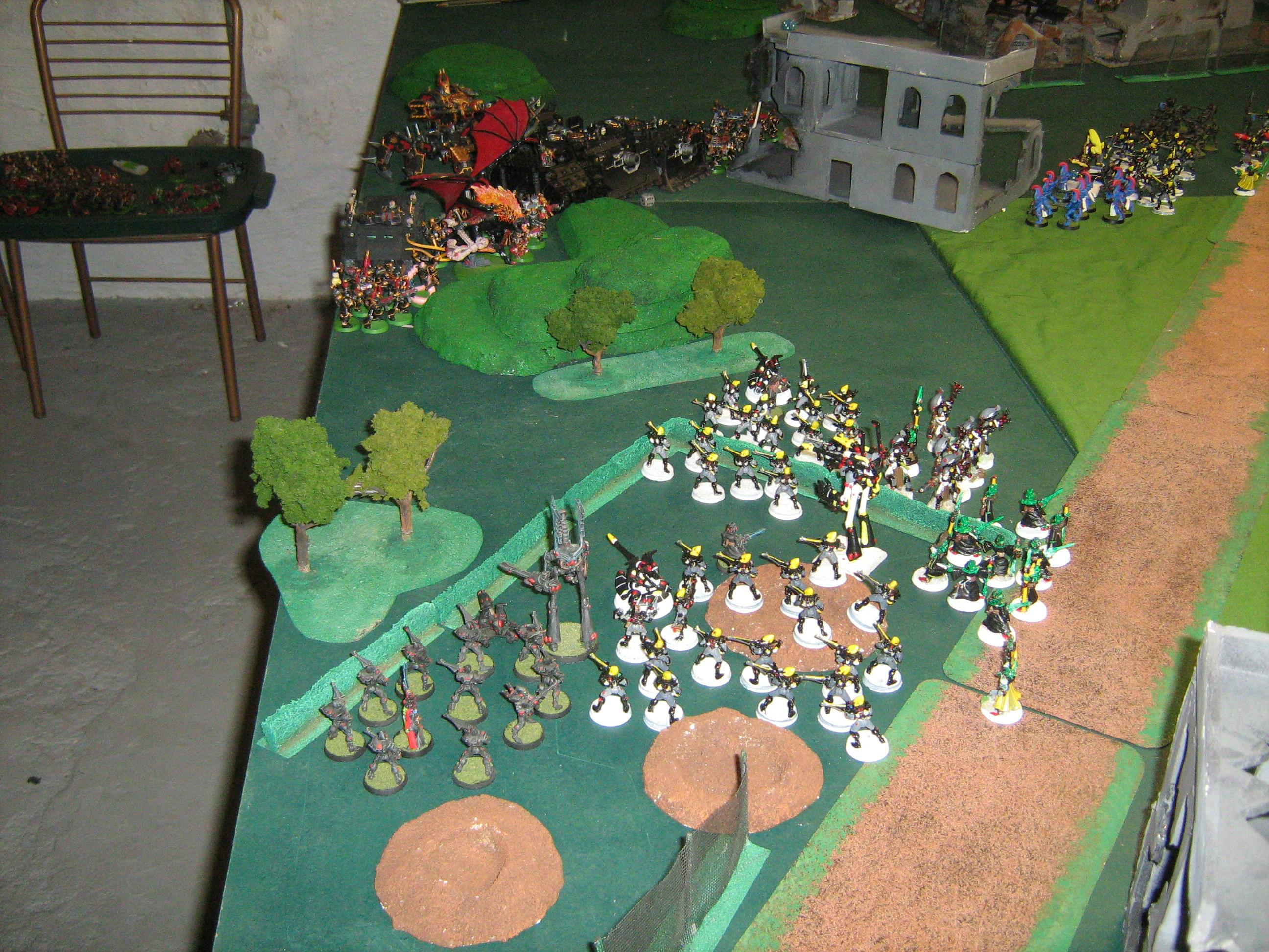 Battle Report, Deployment, Eldar, Terrain, Warhammer 40,000, Zone
