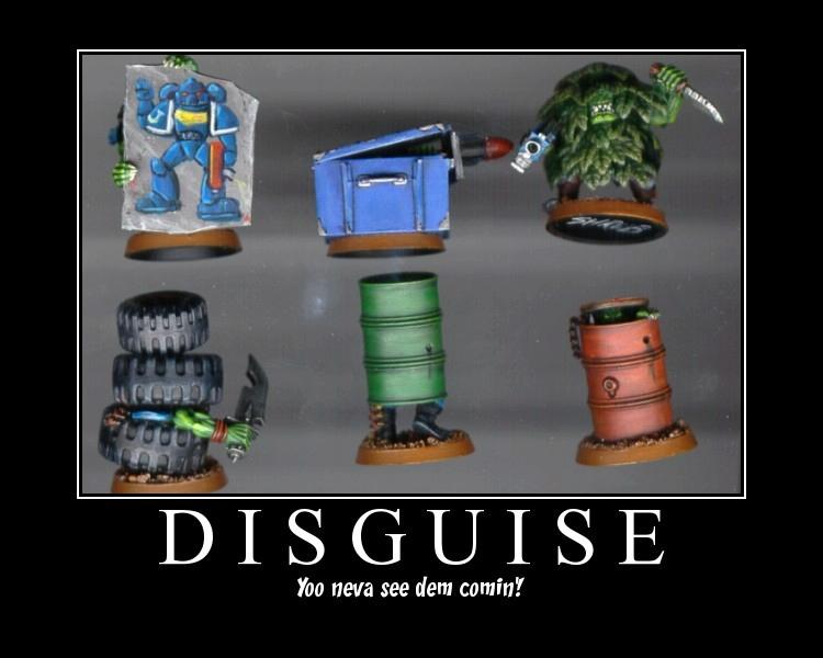 Camouflage, Humor, Orks, Poster