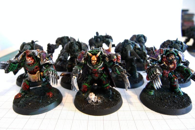 Chaos Space Marines, Forge World, Greenstuff, Magnet, Nurgle, Terminator Armor, Warhammer 40,000, Work In Progress