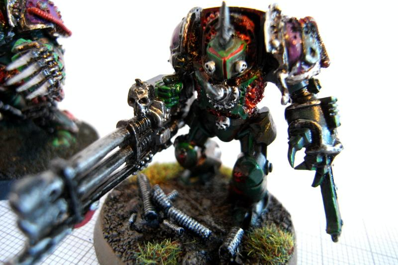Chaos Space Marines, Forge World, Greenstuff, Magnet, Nurgle, Terminator Armor, Warhammer 40,000, Work In Progress