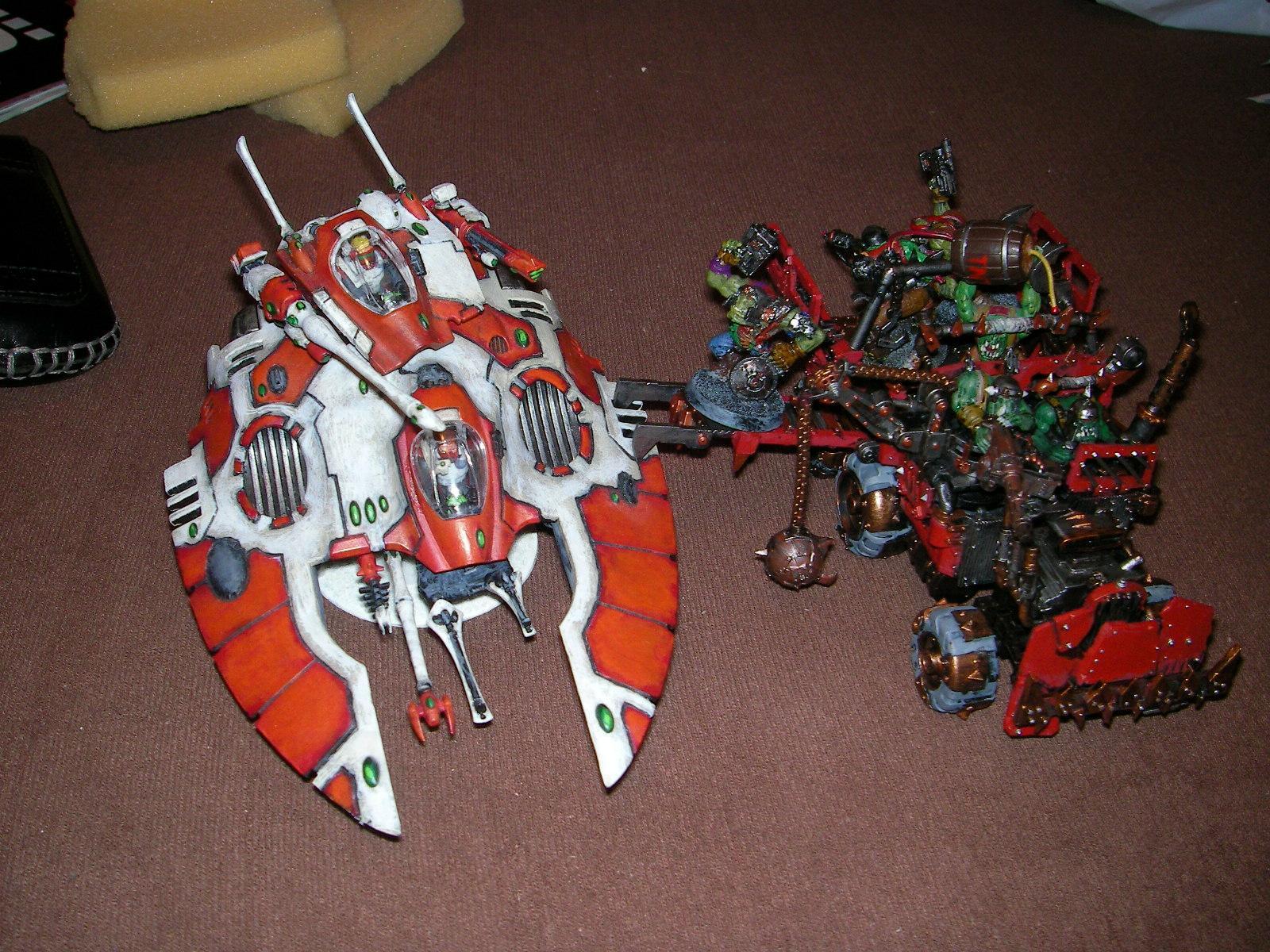 Eldar, Grabbin Klaw, Orks, Trukk, Warhammer 40,000