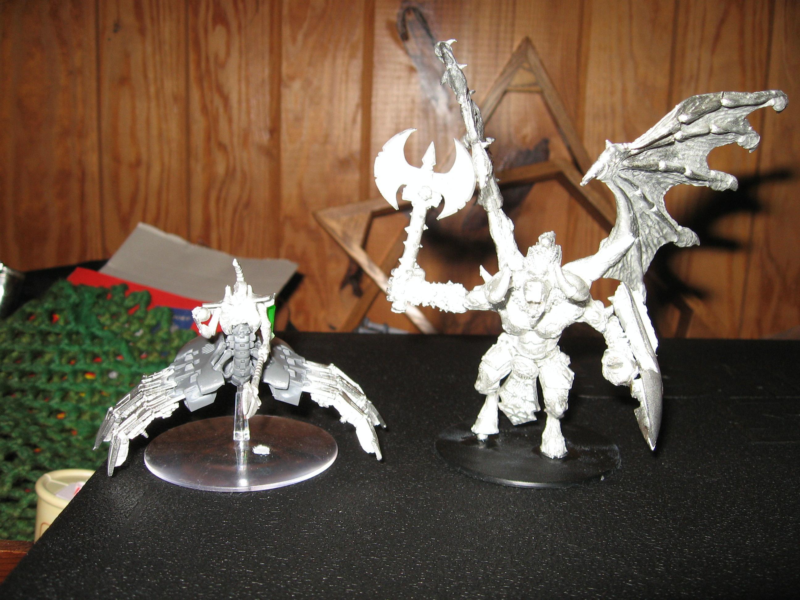 Bloodthirster, Conversion, Destroyer, Necron Lord, Warhammer 40,000