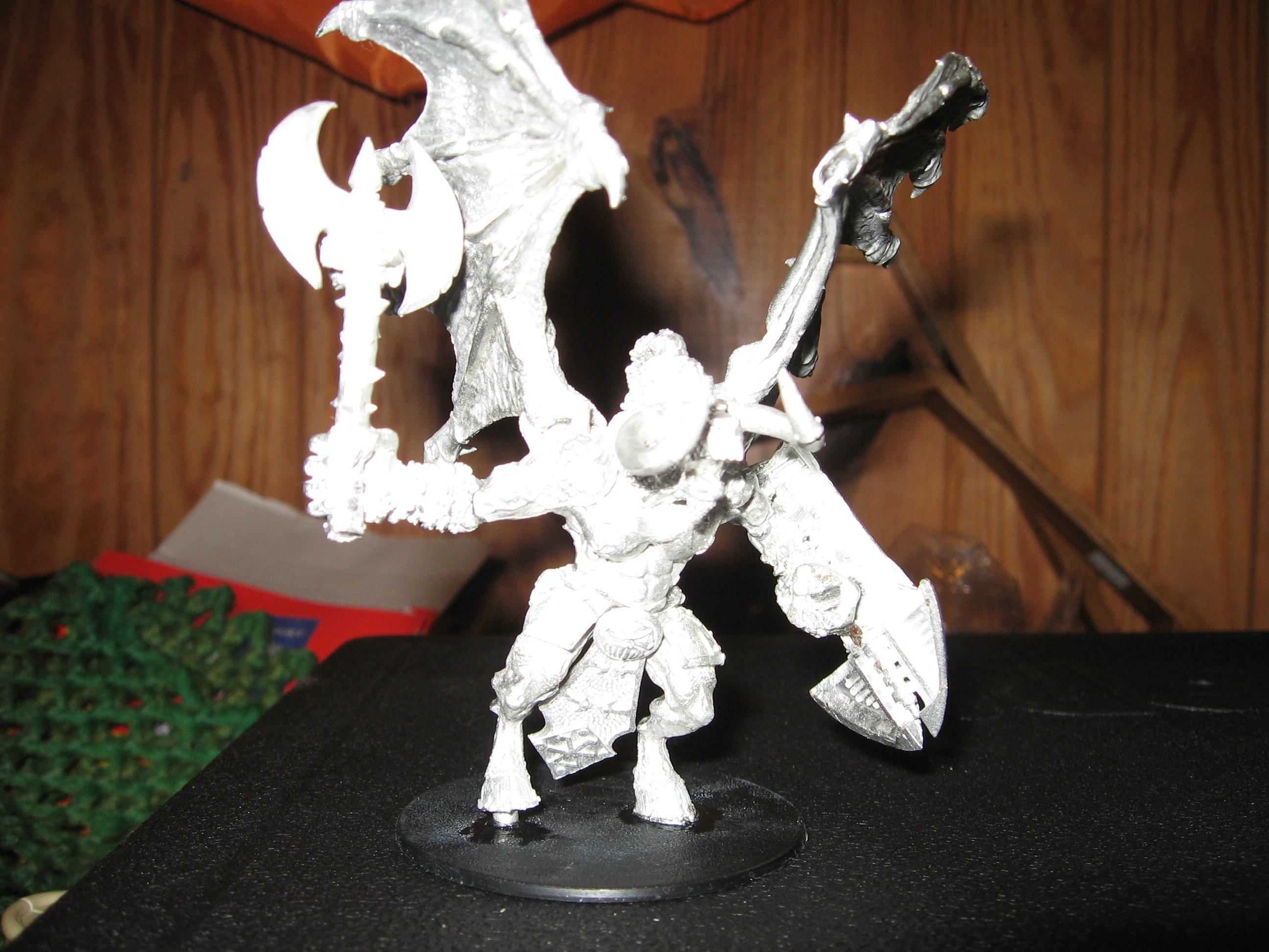 Bloodthirster, Conversion, Necron Destroyer, Warhammer 40,000, Work In Progress