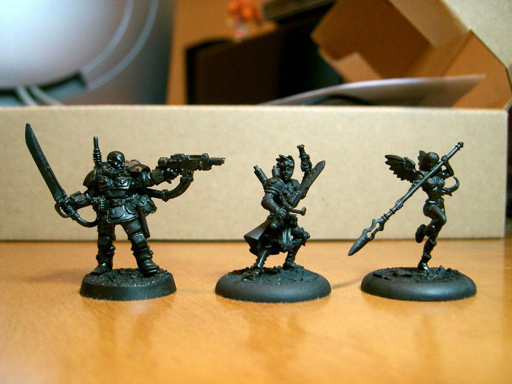Anima Tactics, Comparison, Female, Kasrkin, Warhammer 40,000, Work In Progress
