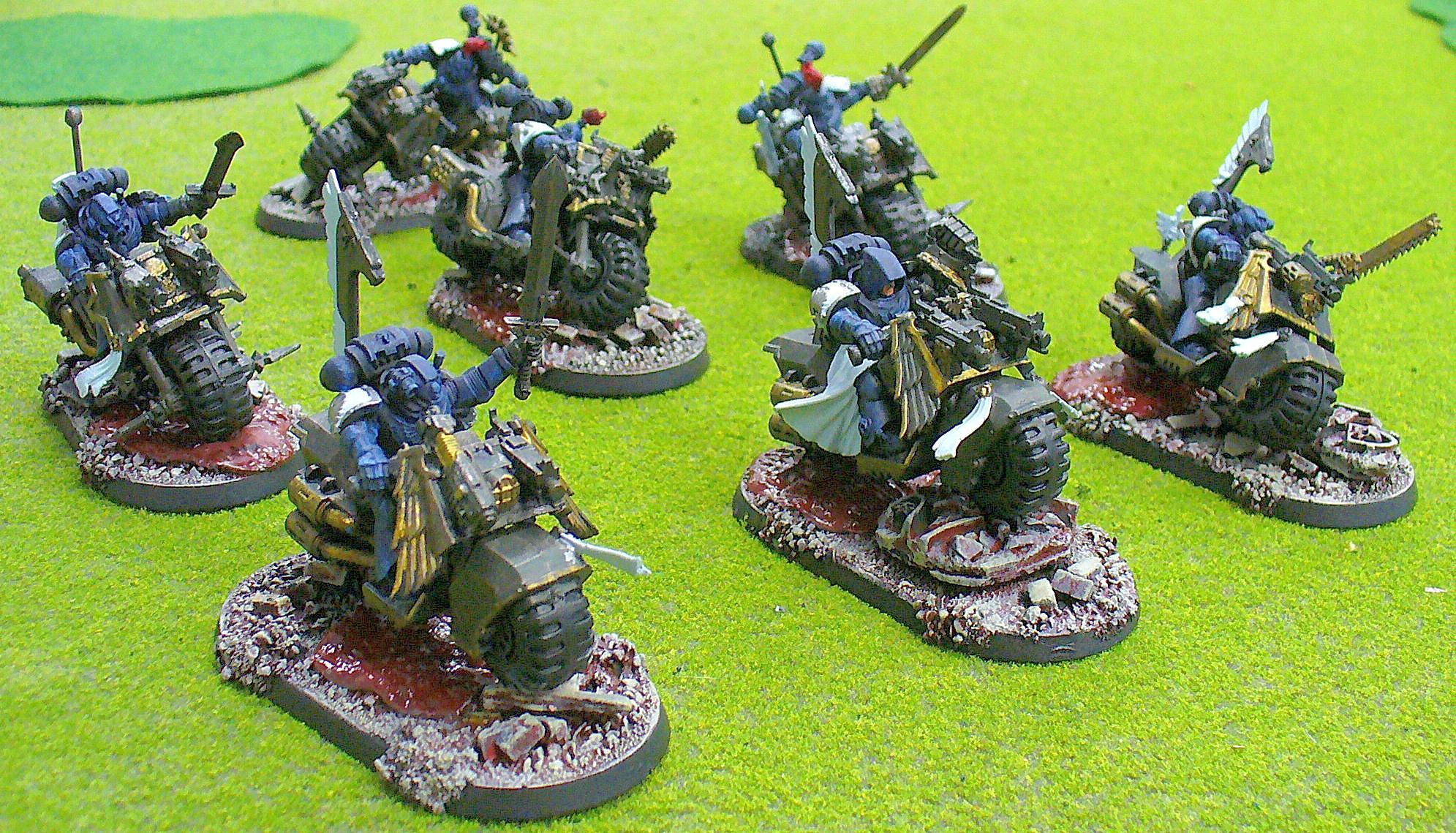 Alpha Legion, Base, Bike, Chaos, Chaos Space Marines, Conversion, Robed, Warhammer 40,000