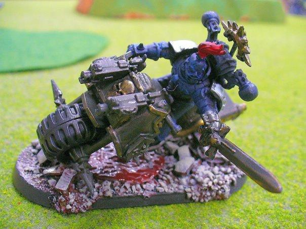 Alpha Legion, Base, Bike, Chaos, Chaos Space Marines, Conversion, Warhammer 40,000