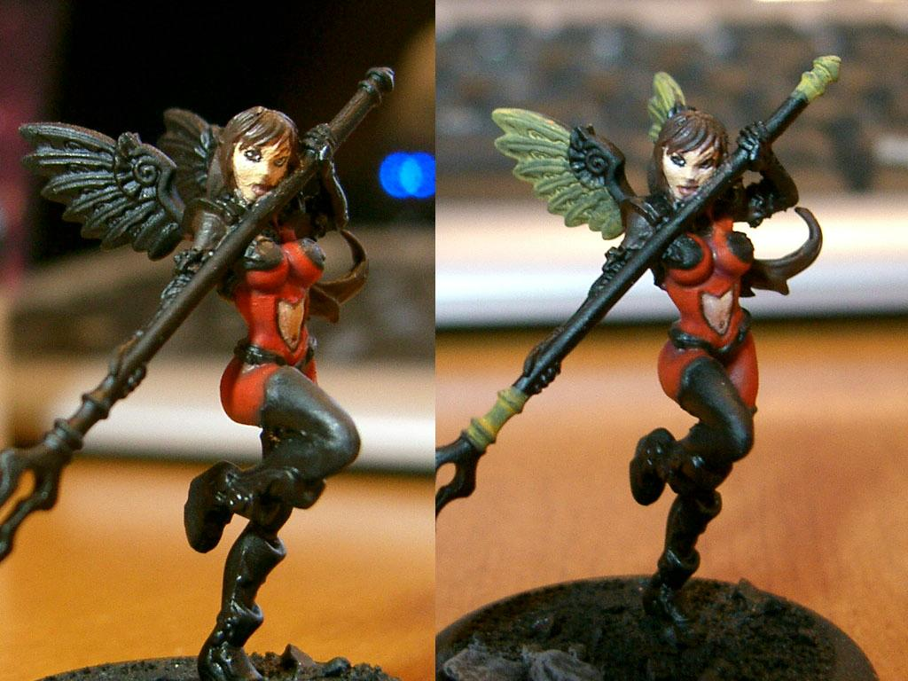 Angel, Anima Tactics, Infantry, Winged, Work In Progress