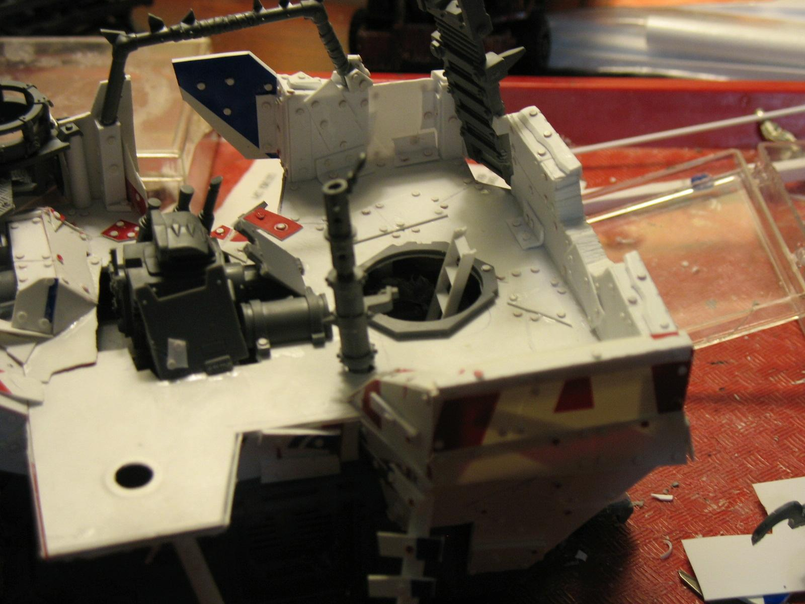 Ork Battle Waggon Wip - 11
