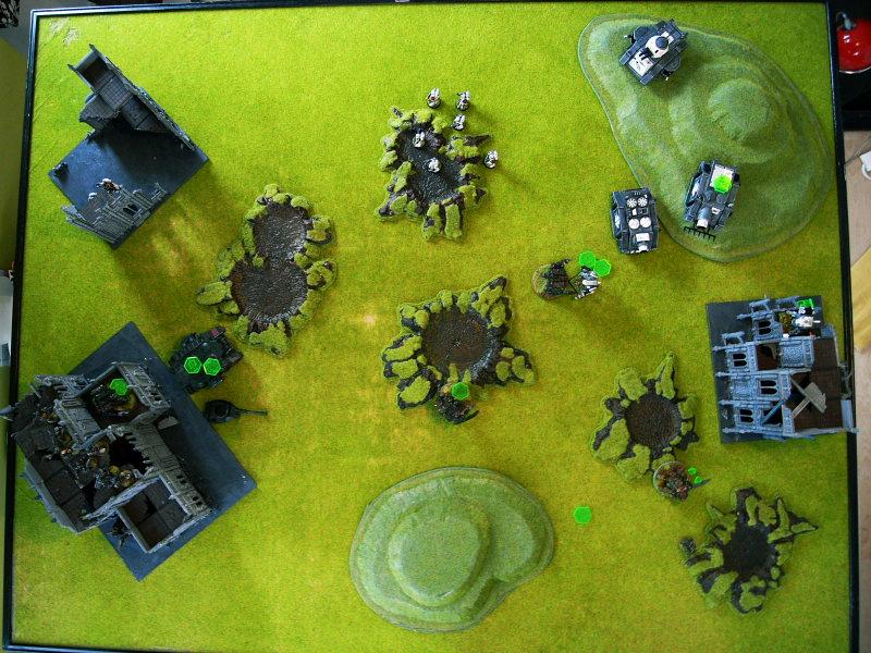 Battle Report, end of turn3