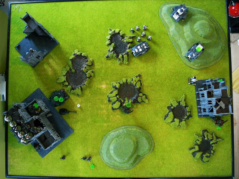 Battle Report, end of turn4