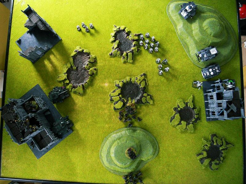 Battle Report, end of turn1