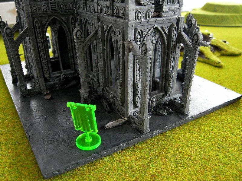 Battle Report, In-progress Game, Objective Marker, Terrain
