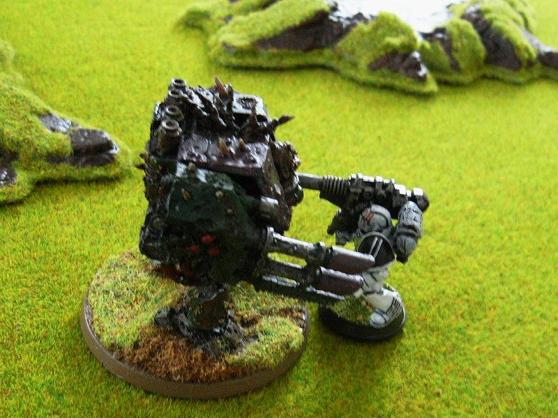 Battle Report, Chaos, Dreadnought, Game In-progress, Lascannon, Loyalist, Space Marines