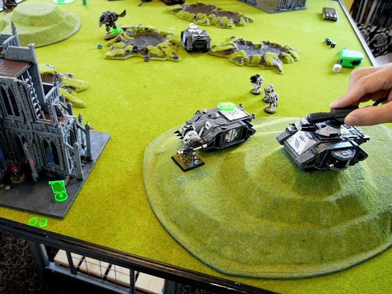Battle Report, Game In-progress, Lazer Pointer, Space Marines