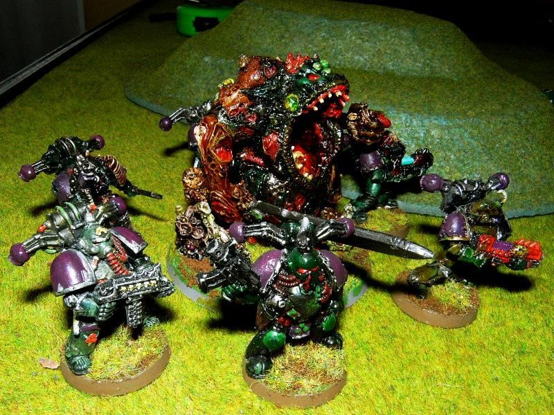 Battle Report, Chaos, Chaos Space Marines, Game In-progress, Greater Demon, Nurgle