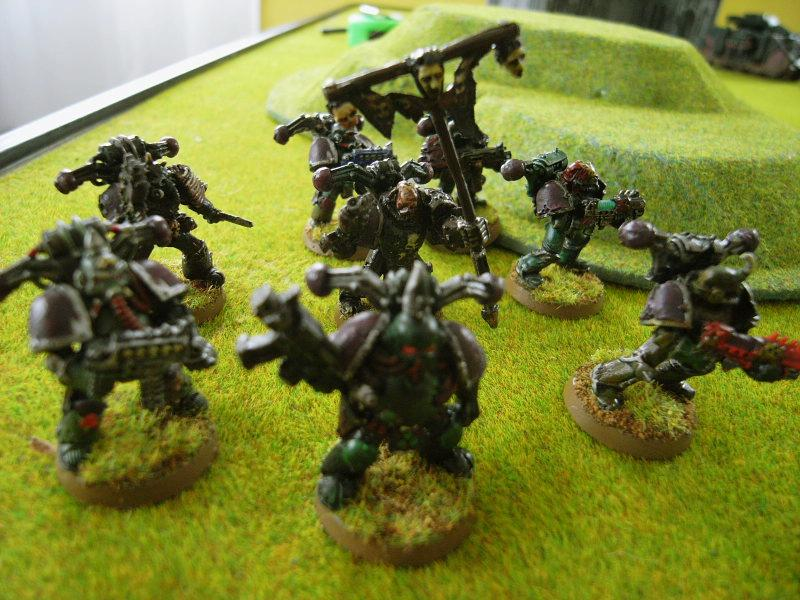 Battle Report, Champion, Chaos Space Marines, Game In-progress