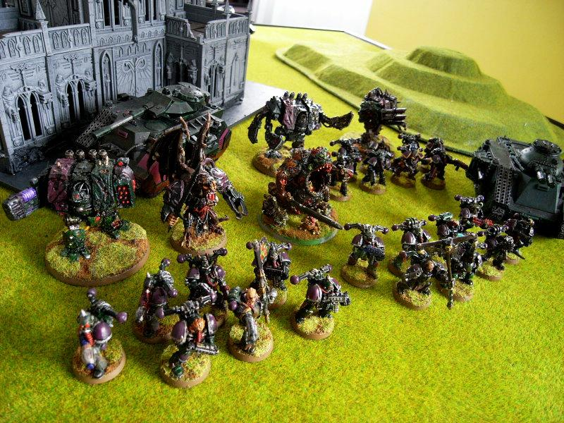 Battle Report, Chaos, Chaos Space Marines, Daemons, Game In-progress, Nurgle