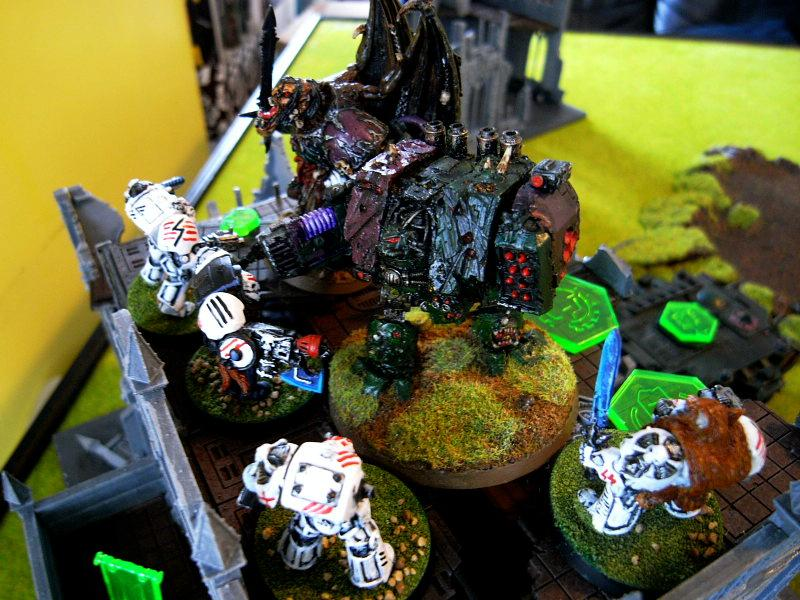 Battle Report, Chaos, Daemons, Dreadnought, Game In-progress, Space Marines, Terminator Armor