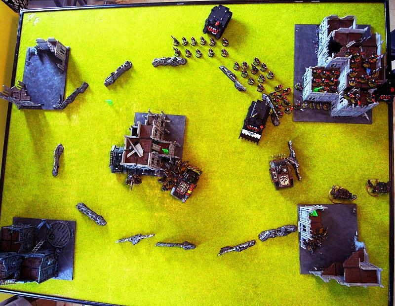 Battle Report, end of turn 1