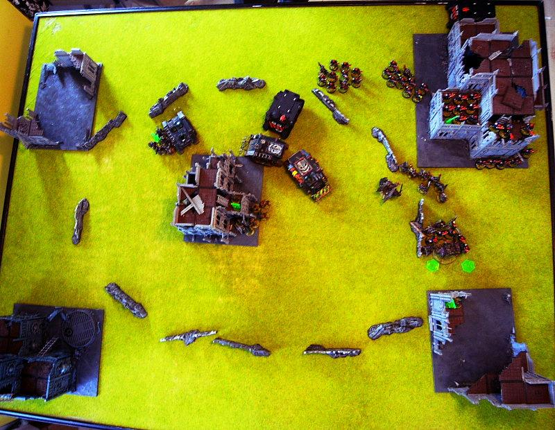 Battle Report, end of turn 4