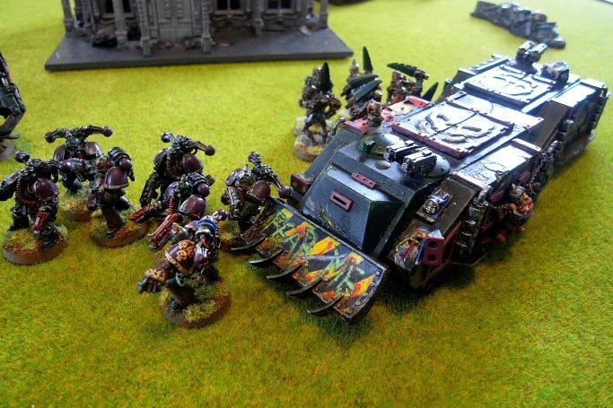 Battle Report, rhinos block los to LD