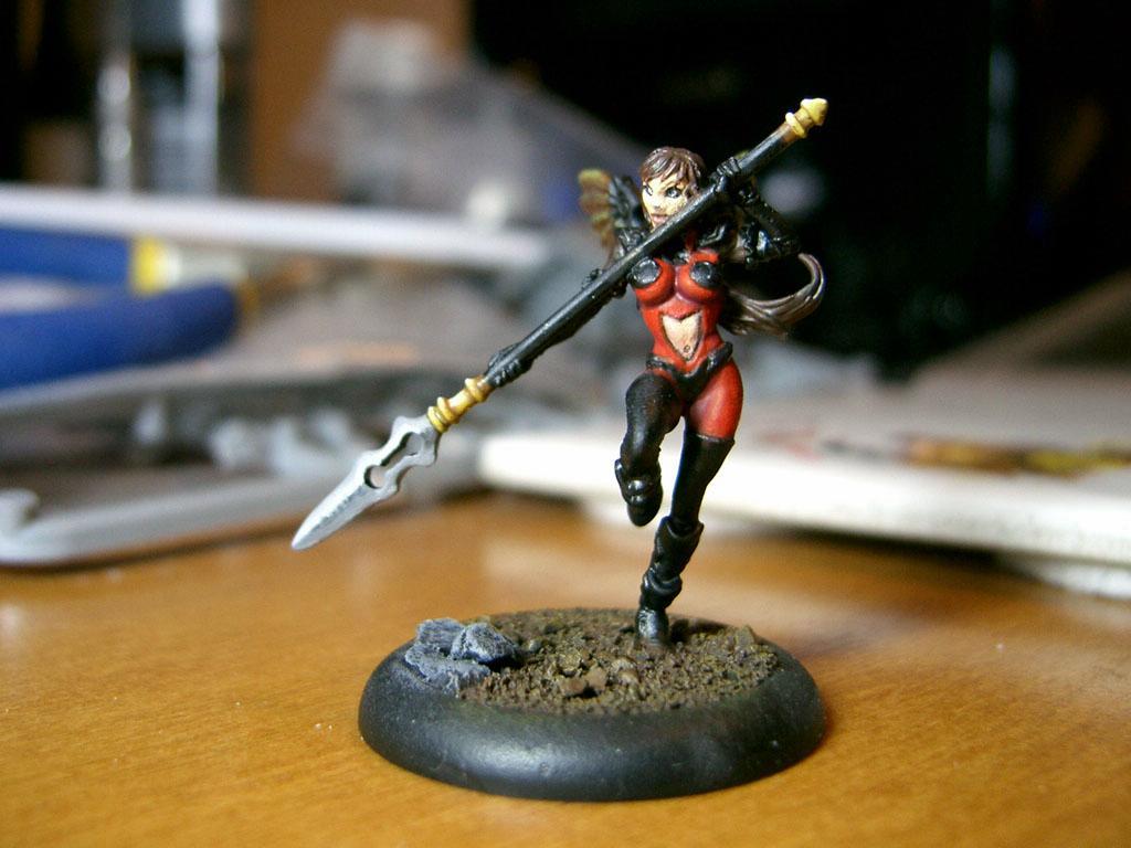 Anima Tactics, Female, Infantry, Winged, Work In Progress