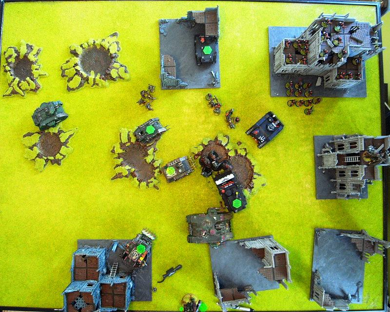 Battle Report, Chaos Space Marines, Overhead, Warhammer 40,000