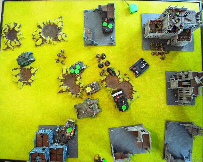 Battle Report, end of turn 5