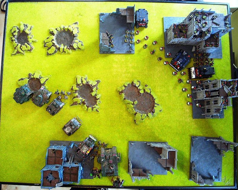 Adeptus Arbites, Battle Report, Chaos Space Marines, Overhead, Warhammer 40,000