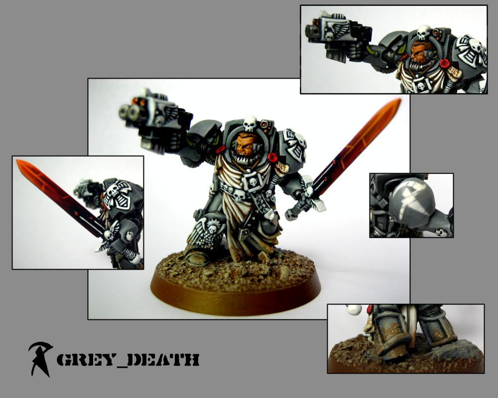 Captain, Commander, Power Sword, Space Marines, Terminator Armor, Warhammer 40,000