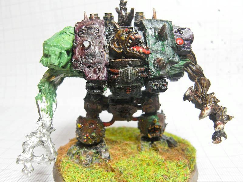 Chaos Space Marines, Dreadnought, Forge World, Greenstuff, Magnet, Nurgle, Warhammer 40,000, Work In Progress