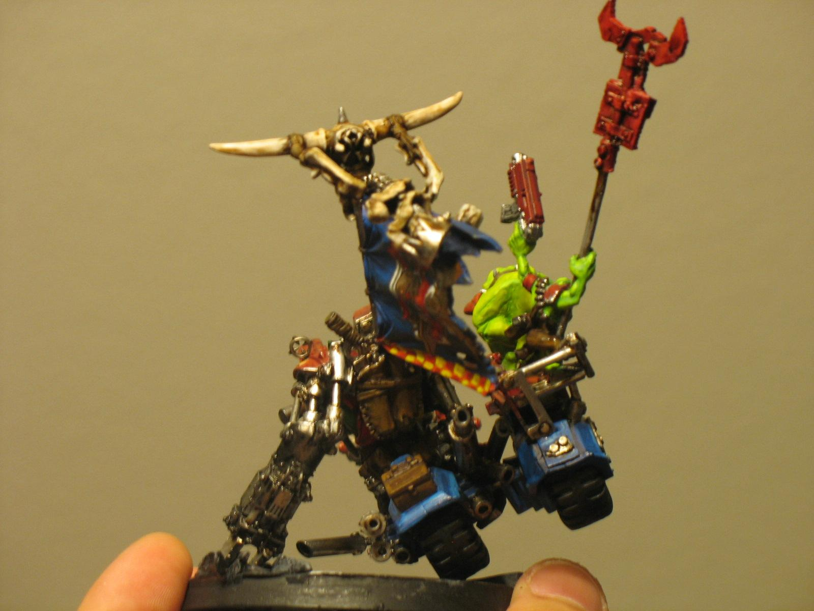 Warboss on bike- finished